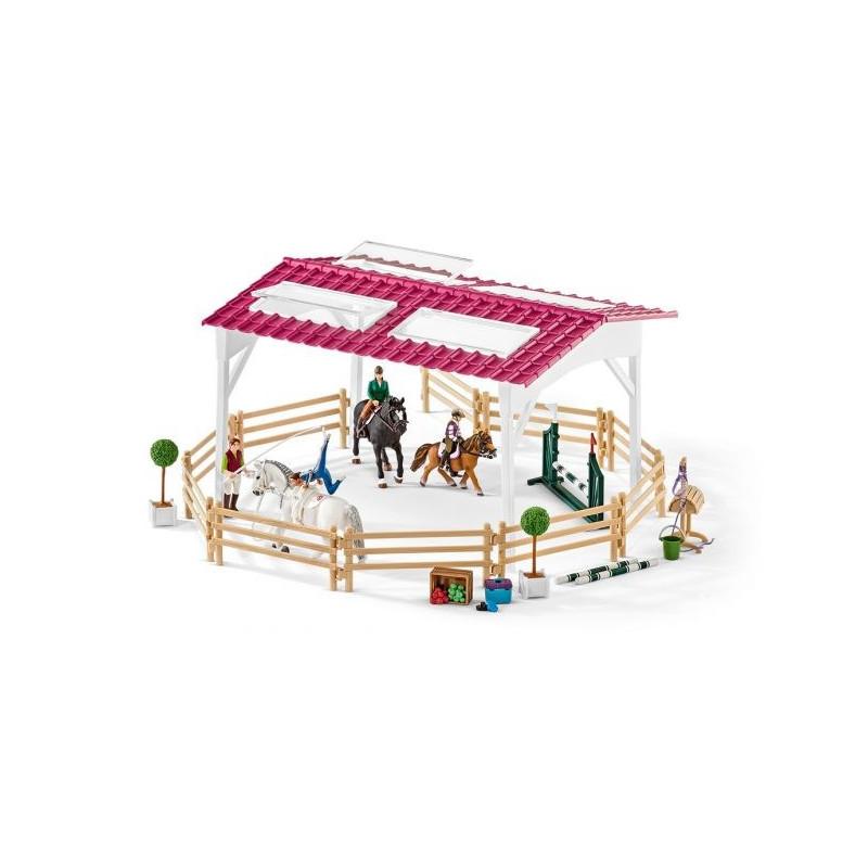 Schleich 42389 Ruiterschool met Ruiter en Paarden