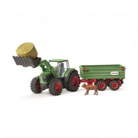 Schleich 42379 Traktor mit Anhänger