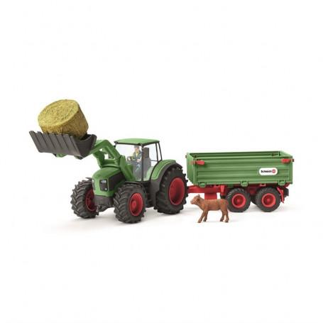 Schleich 42379 Tractor met Aanhangwagen