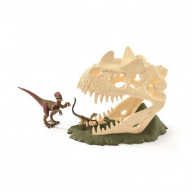 Schleich 42348 Large Skull Trap with Velociraptor