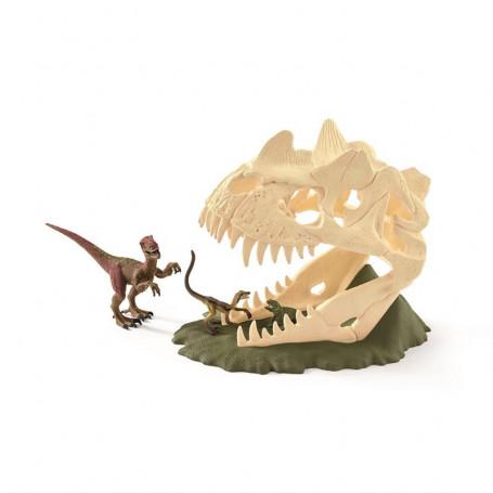 Schleich 42348 Grote Schedelvalstrik met Velociraptor