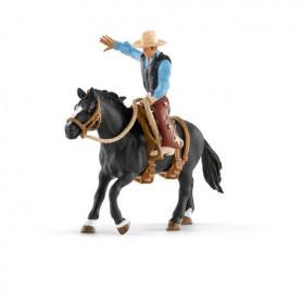 Schleich 41416 Saddle bronc riding mit Cowboy