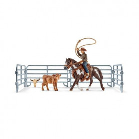 Schleich 41418 Team Roping with Cowboy