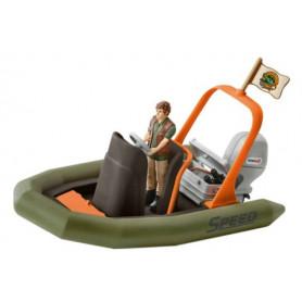 Schleich 42352 Schlauchboot mit Ranger