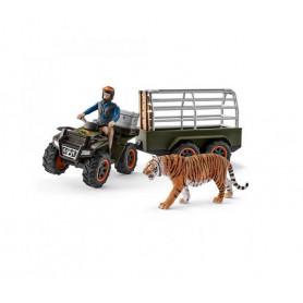Schleich 42351 Quad Bike with Trailer and Ranger