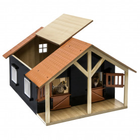 x Horsestable Wood with 2 boxes and workshop 1:24