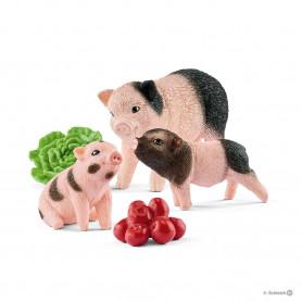 Schleich 42422 Cochon nain femelle et cochonnets