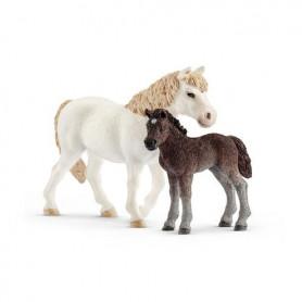 Schleich 42423 Pony Stute mit Fohlen