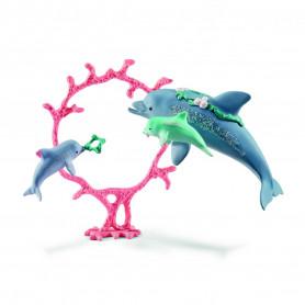 Schleich 41463 Dolphin mum with babies