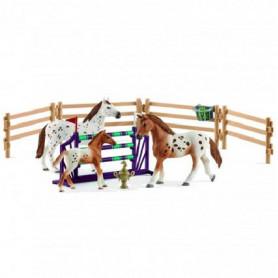 Schleich 42433 Kit d'entrainement au concours & chevaux Appaloosa