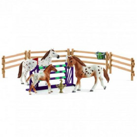 Schleich 42433 Set Turnier-Training & Pferd Appaloosas