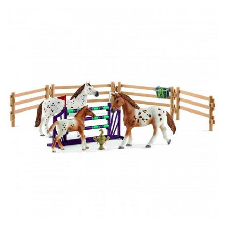 Schleich 42433 Toernooi Training Set & Appaloosa Paard (Lisa's toernooitraining)