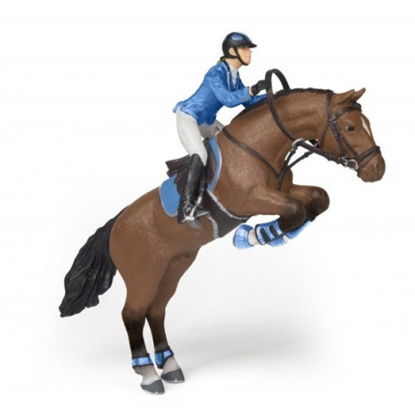 Papo 51560 Jumping horse with riding girl