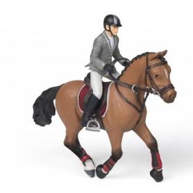 Papo 56561 Springpferd und Reiterin