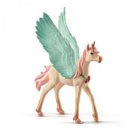 Schleich 70575 Bayala Pegasus Eenhoorn Veulen met juwelen