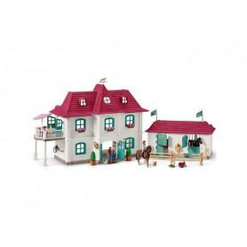 Schleich 42416 Großer Pferdehof mit Wohnhaus und Stall