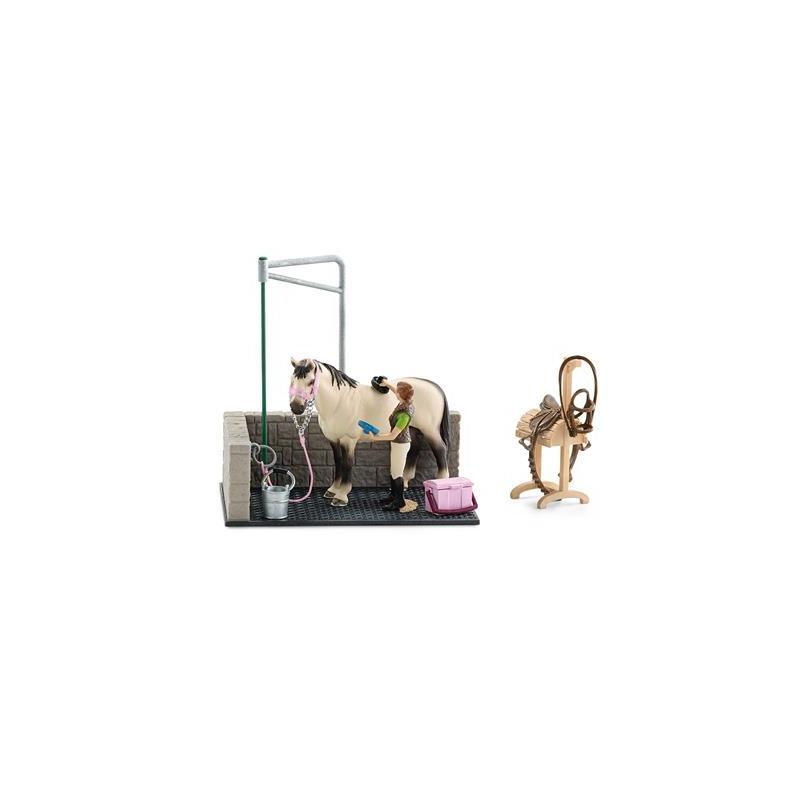Schleich 42104 Paarden Wasbox