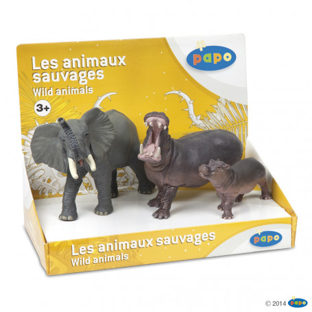 Papo 80001 Wild Animal Set (3 pcs)